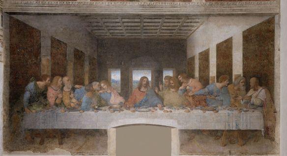 L'ultima cena, de Leonardo de Vinci. Mural del convento de Santa Maria delle Grazzie (Milán) (1495-1497) (Fuente: Wikimedia Commons)